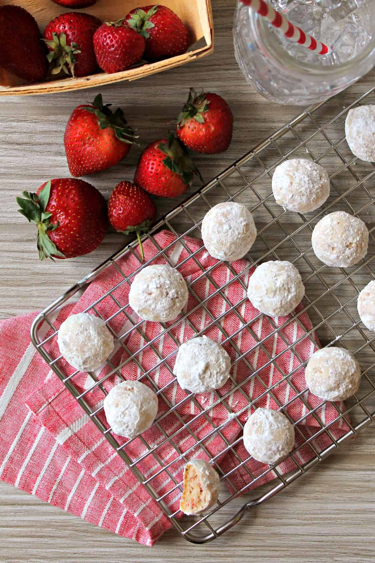 Soft and buttery strawberry meltaway cookies are the perfect summer treat