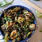 Sesame Peanut Brussels Sprouts