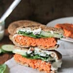 Smoky Salmon Bagel Burgers with Garlic-Dill Schmear
