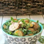 Roasted Potato & Spinach Salad