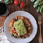 Basil Panko-Crusted Salmon