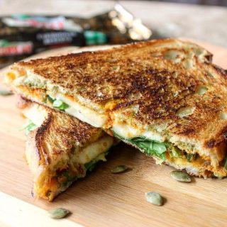 Double Pumpkin Cheddar Grilled Cheese