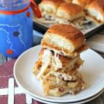 Baked Pumpkin Butter, Turkey & Cheese Sliders