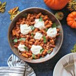 "Easy Pumpkin Marinara Pasta with Whipped Cottage Cheese ""Ricotta"""