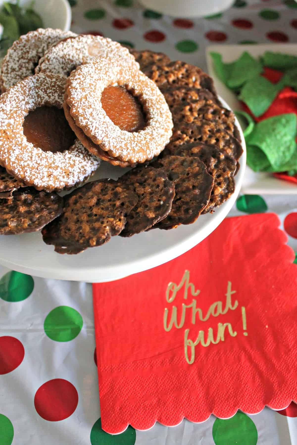 Peppermint Mocha Truffle Thumbprint Cookies! Chocolaty with a smooth truffle center, they're a festive addition to a cookie exchange or holiday buffet!