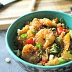 Pineapple Shrimp Quinoa Stir Fry Bowls
