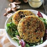 Mushroom, Spinach & Swiss Brown Rice Patties