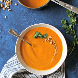 Creamy Carrot Ginger Soup. Rich and creamy, yet completely dairy-free, this nutrient-rich soup is ideal for serving to just about any crowd.