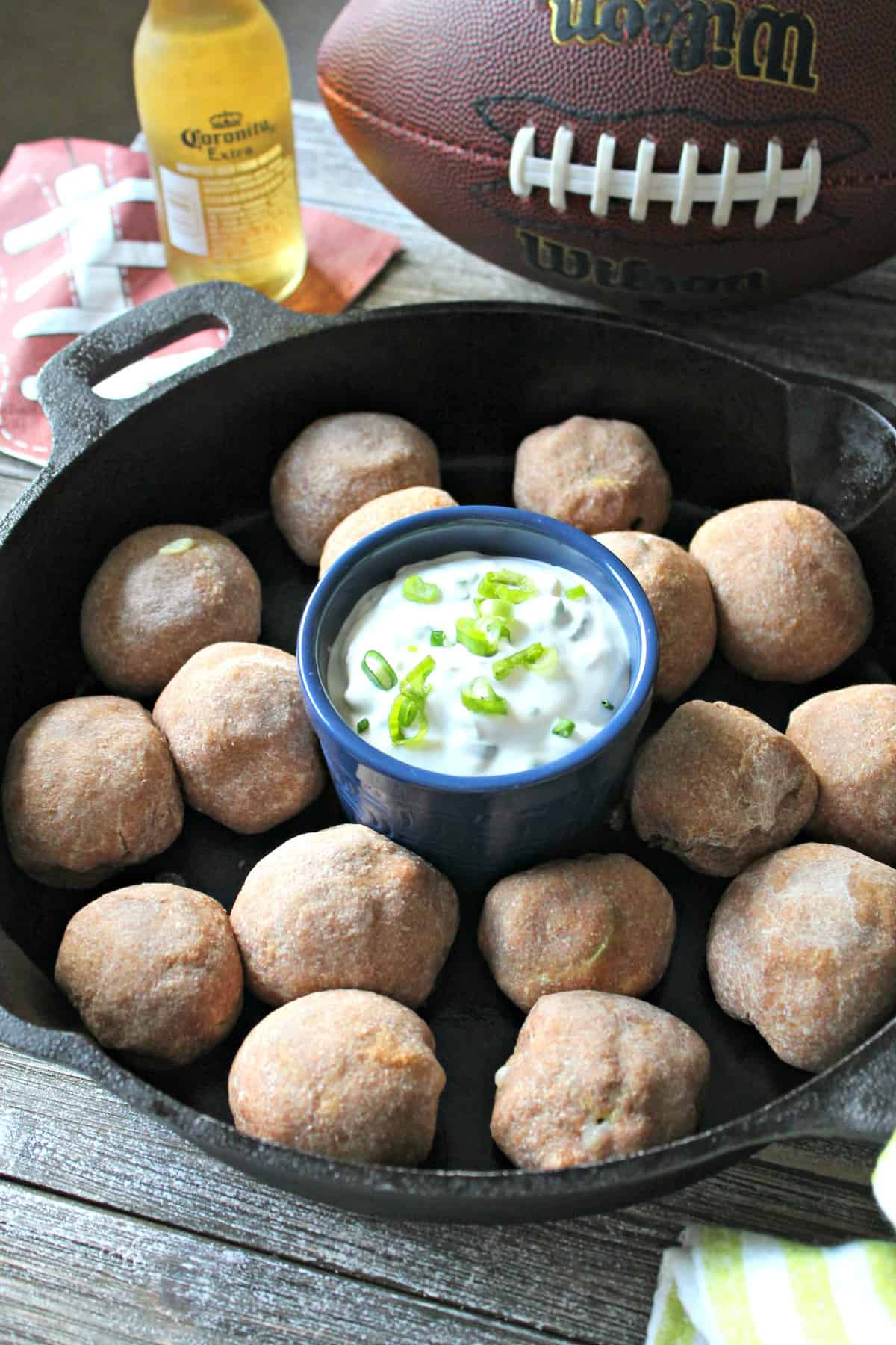 These creamy, cheesy jalapeno pepper bombs are a perfect poppable game day appetizer