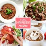 10 Simple 5 Ingredient Recipes! It's a myth that cooking has to be complicated. These 10 incredibly easy and flavorful recipes are proof that all you need is a handful of ingredients to create a fantastic meal.