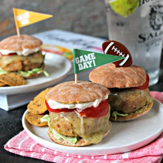 "Turkey and Chickpea Sliders with Dill Havarti. Game day burgers take a ""Healthyish"" turn with these tender protein-packed sliders. The chickpeas are undetectable, but melted Dill Havarti shines as a flavorful topping."