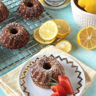 Lemon-Rosemary Mini Bundt Cakes! Springtime desserts couldn't get sweeter; these dainty little cakes may be small, but they're brimming with the flavors of bright citrus and herbaceous rosemary. Perfect for spring showers and Easter gatherings!