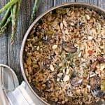 Baked Parmesan, Asparagus & Mushroom Rice Pilaf