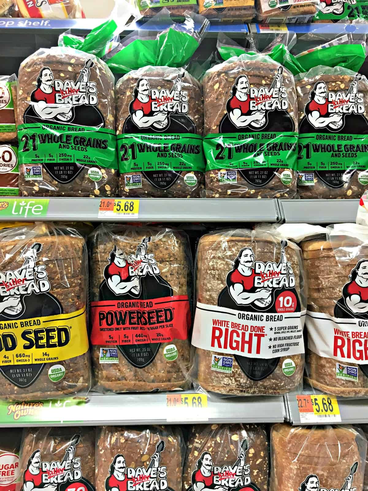 Dave's Killer Bread, available at Walmart.