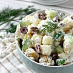Tzatziki Potato Salad with Kalamata Olives