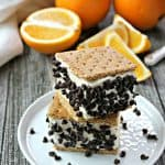 Easy No-Churn Orange-Chip Ice Cream Sandwiches