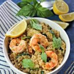 Lemon Basil Shrimp & Quinoa
