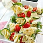 Marinated Zucchini & Tortellini Skewers