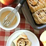 Easy Caramel Apple Cinnamon Rolls
