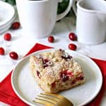Cranberry Streusel Cake! Tart, fresh cranberries are tamed by a sweet, buttery streusel on this versatile, holiday-ready cake that's equally delicious for brunch or dessert!