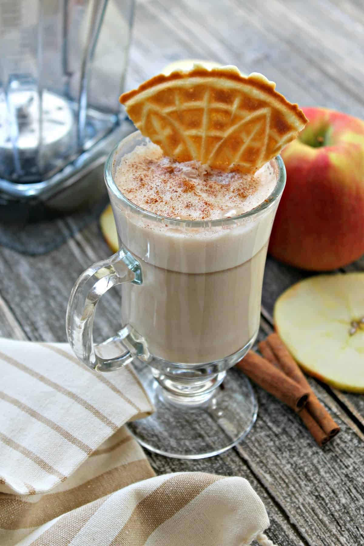 """Apple Pie"" White Hot Chocolate! Sweet and creamy, with undertones of apple pie, this might just become your favorite way to warm up during the cold weather months!"
