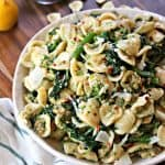 Sausage and Broccoli Rabe Orecchiette Pasta! A simple weeknight meal that's bursting with flavor, this pasta dish will become one recipe that's on repeat.