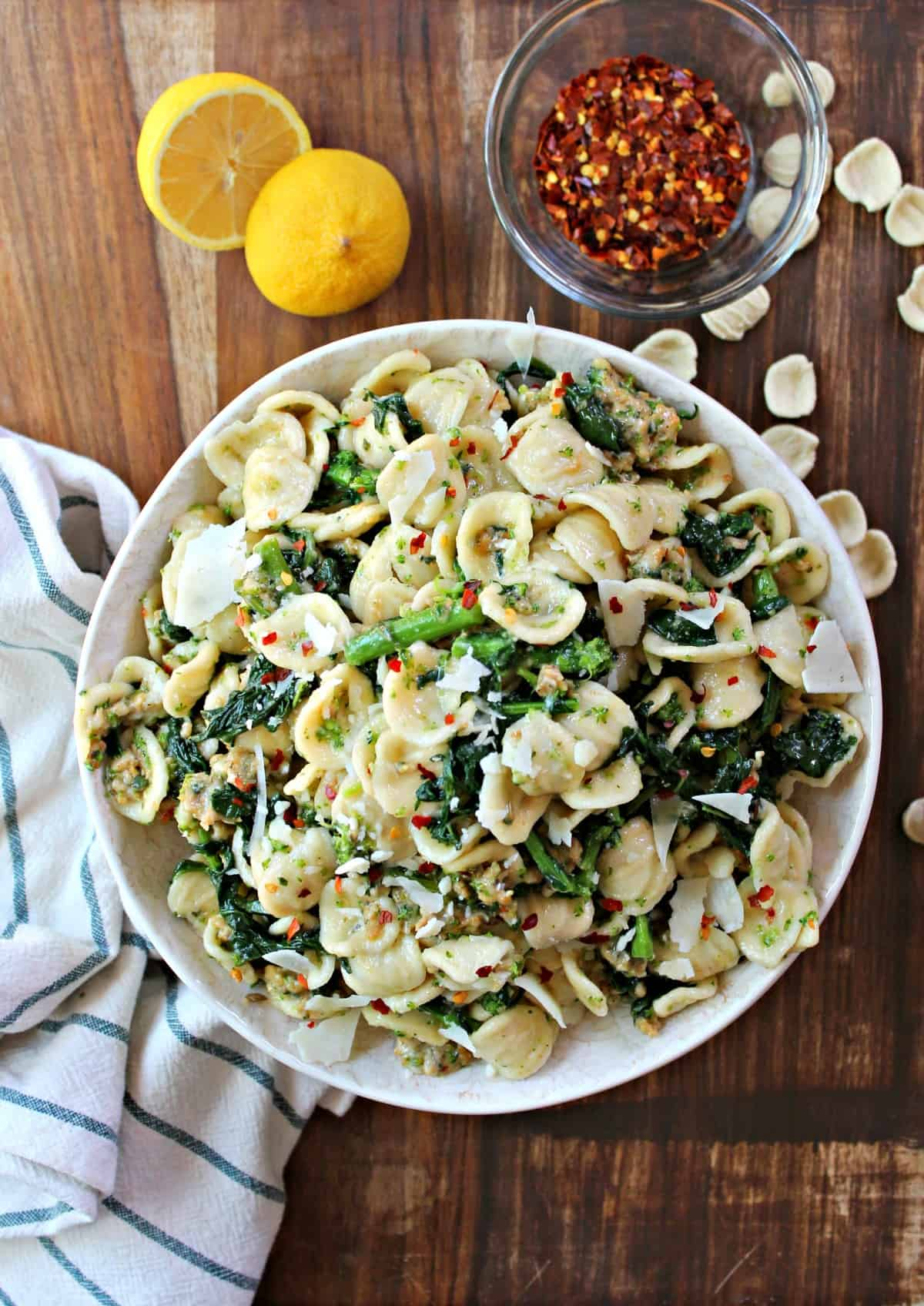 Tender Orecchiette Pasta combined with hearty sausage and broccoli rabe is a flavorful, simple weeknight dish