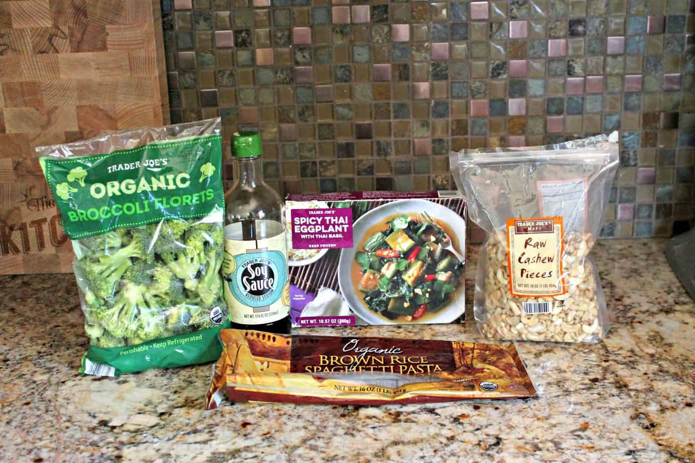 Ingredients for Spicy Thai Eggplant Stir Fry