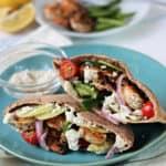 Grilled Greek Shrimp Pitas